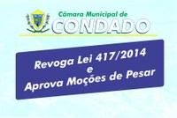 Revogada Lei 417/2014